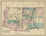 Map of New Mexico and Arizona, 1874 :: New Mexico Waters