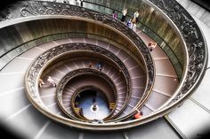 A stairwell in the Vatican City