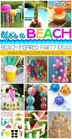 Life's a Beach, Enjoy the Waves with these Beach Inspired Party Ideas on Frugal Coupon Living. From crab cupcakes that don't pinch, a fun little watermelon hack, to how to make a sand cake and more! We love these creative beach party ideas for your next under the sea gathering. These also are the perfect touch to a luau party!
