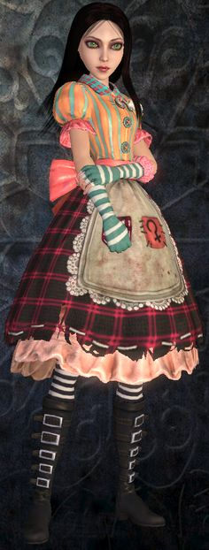 Yes I think I'm obsessed alice in wonderland but I don't care. Alice Liddell, Alice Madness Returns, Alice Cosplay, Alice Costume, Were All Mad Here, Alice In Wonderland Party, Queen Of Hearts, Cosplay Costumes, Scary Costumes