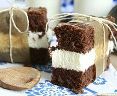 XXXl Milk-Slice Recipe - inspired by Küchenmeister! Cream Cream, Sponge Cake, Baking Sheet, Vegetarian Cheese, Tiramisu, Cocoa, Cheesecake, Food And Drink, Snacks