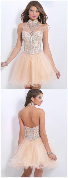 Open Back Prom Dress,Beading Evening Dress,Short Party Dress,Chic Evening Open Back Prom Dresses, Cute Prom Dresses, Sweet 16 Dresses, Grad Dresses, Pretty Dresses, Homecoming Dresses, Beautiful Dresses, Evening Dresses, Formal Dresses