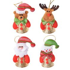 Real Life Plush Reliable 2019 Christmas Decoration Pendant Santa Claus Doll Toys Wooden+woolen Santa Claus Dolls Pendant Christmas Decorations For Home Crease-Resistance