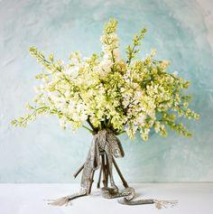Wedding Ideas: yellow-flower-diamond-studded-ribbon