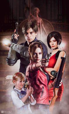 Resident Evil 2 Remake by Frank Alcântara Resident Evil Video Game, Resident Evil Anime, Resident Evil Girl, Leon S Kennedy, Evil Games, Ada Wong, Evil Art, Jill Valentine, The Evil Within