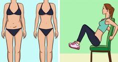 Did you know that you can perform a great weight burning cardio workout while sitting on a chair? Here are the best chair cardio exercises to burn calories that help you out Body Fitness, Fitness Tips, Health Fitness, Easy Workouts, At Home Workouts, 4 Minute Workout, Flatter Stomach, Chair Exercises, Ab Exercises