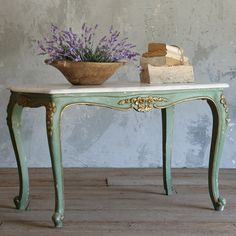 Eloquence One of a Kind Vintage Coffee Table Louis XV Deep Mint @Layla Grayce #gabbydecor