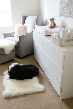 'Safe space' for your pups in the nursery... genius! A Pretty Pet Friendly Nursery | Pretty Fluffy | Pretty Fluffy