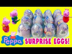 Nickelodeon Peppa Pig Surprise Eggs Kinder Surprise Eggs ToyBoxMagic - YouTube
