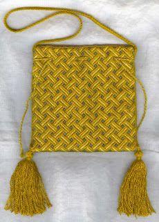 Basketweave pattern pouch.