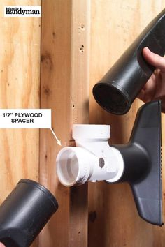 The 56 Most Brilliant PVC Hacks You've Ever Seen Take one of your shop vacuum attachments to the home center and find a PVC tee that fits. Garage Tool Organization, Tool Storage, Organization Ideas, Organizing, Pvc Pipe Projects, Diy Shops, Home Repair, Home Improvement Projects, Household Items