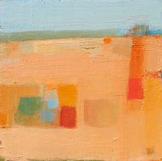 """Sandy Ostrau, """"Orange Shadow,"""" oil on canvas, 24 x 24 inches"""