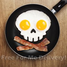 FUNNY SIDE UP SKULL Silicone Egg Mould Fried Breakfast Halloween *FREE DELIVERY*