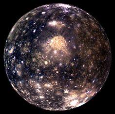 Callisto. A moon from Jupiter
