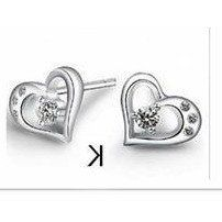 925 Sterling Silver Earrings All You Need Is Love
