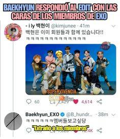 Baekhyun, Exo Memes, Kpop Exo, Foto Bts, Lee Jong, Humor, Funny, Army, Kawaii