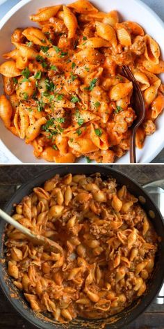 This easy main dish can be on the table in 30 minutes! Loaded with Italian sausage, Parmesan, and basil, these Creamy Red Pepper Shells are pure comfort food. Save this pasta recipe for a dinner idea your family will request often!