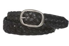 1 1/4'' Womens Braided Woven Leather Belt Size: L/XL - 40'' Color: Black Made by #beltiscool Color #Black. Oval buckle. Soft leather 100% solid. 100% hand braided