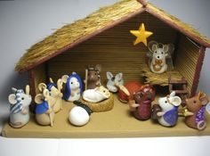 Ashur the Shepherd Mouse and Ox - The Mouse Nativity Set #7 | QuernusCrafts ArtFire Gallery