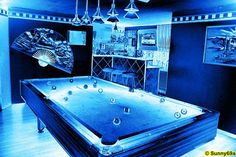 Billard in blue
