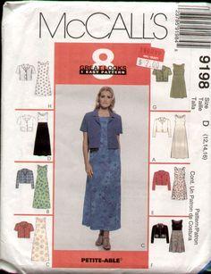 McCall's 9198 8 looks Dress sewing pattern Size C 10-14  (uncut)