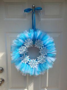 Snowflake Tulle Wreath
