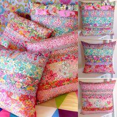 "Liberty of London Print Cushions 16"" square, 100% Linen backed Handmade in Australia Rhapsody and Thread via Etsy @rhapsodyandthread"