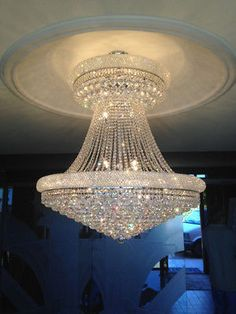 Details about SALE French Empire Primo 28 Light 36 inch CHROME Finish Crystal Chandelier Large - Kronleuchter Chandelier Design, Crystal Chandelier Lighting, Luxury Chandelier, Ceiling Light Design, Chandelier Lamp, Ceiling Lights, Elegant Chandeliers, Iron Chandeliers, French Empire Chandelier