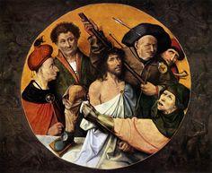 Christ Crowned with Thorns - Hieronymus Bosch, 1510. ( Monasterio de El Escorial)