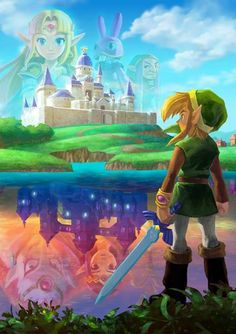 The Legend of Zelda - A Link Between Worlds. They sell this as a poster at Wal-Mart. I've been tempted to buy one. XD