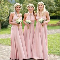 Cheap bridesmaid dresses sexy, Buy Quality convertible bridesmaid dress directly from China blush pink bridesmaid dress Suppliers: 2017 Convertible Bridesmaid Dress A-line Floor Length Ruffles Blush Pink Bridesmaid Dresses Sexy Cheap Custom Made Multiway Bridesmaid Dress, Country Bridesmaid Dresses, Blush Pink Bridesmaid Dresses, Cheap Bridesmaid Dresses Online, Pink Party Dresses, Cheap Prom Dresses, Wedding Party Dresses, Party Gowns, Short Dresses