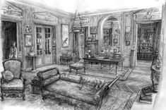 From Sketch to Still: The Time-Traveling Art Direction of Midnight in Paris gertrude stein's joint (midnight in paris) The post From Sketch to Still: The Time-Traveling Art Direction of Midnight in Paris appeared first on Film. Stage Design, Set Design, Design Art, Interior Design, Paris Kunst, Paris Art, Midnight Paris, Scenic Design, Decoration