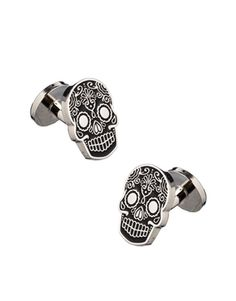 Noose & Monkey Cufflink with New Mexican Skull