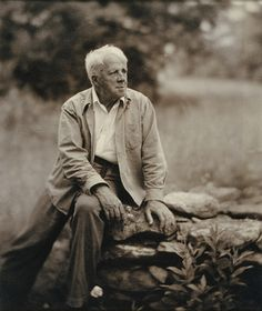 """Back out of all this now too much for us, Back in a time made simple by the loss Of detail, burned, dissolved, and broken off Like graveyard marble sculpture in the weather, There is a house that is no more a house Upon a farm that is no more a farm And in a town that is no more a town.  Robert Frost From """"Directive,"""" 1947"""