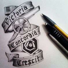 Arsenal FC tattoo design, I would love to either get it or tattoo it on someone