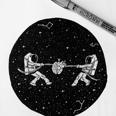 Your worst battle is between what you know and what you feel ‍❤️ #astronaut #astronauttattoo #tattoo #tattoodesign #artnerd #art #illustrator #illustration #drawing #inkstagram #instart #heart #brain #space #cosmos #stars #cosmonaut #blackworknow #blackandwhite #blackworkers #instafineliner #logonew #graphicroozane @blackworknow @insta_blackwork @instafineliner @black.flash.work #feature #art_empire
