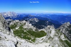 Mangart Saddle in the Julian Alps in Slovenia and the end of the Mangart road