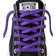 Converse Low-Top Sparkle Lace 45 In – purple (115 UYU) ❤ liked on Polyvore featuring accessories, shoes and purple