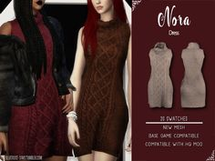 The Sims 4 Nora dress by bluerose-sims