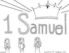 """""""Book of 1 Samuel"""" coloring page"""