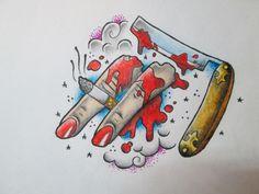 Oldschool tattoo flash by sparc666 on DeviantArt
