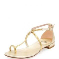 Stuart Weitzman - Chain-Strap Toe-Ring Sandal Cava Shackle - $134.00 (55% off)