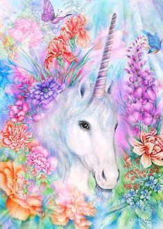 A gorgeous unicorn artwork that will take your breath away! #ART