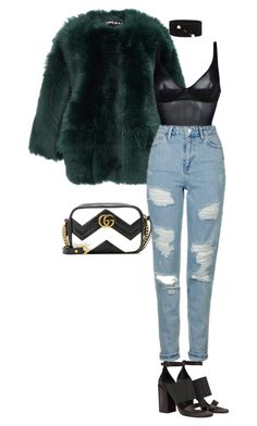 """""""Untitled #20"""" by averymorales on Polyvore featuring Rochas, Wolford, Topshop, Dries Van Noten, Brunello Cucinelli and Gucci"""