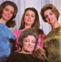 Mother Maybelle Carter sitting , L June, Anita and Helen Carter