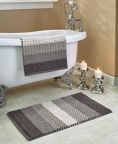 Braided Chenille Bath Rug Sets - Bathroom Rugs - Ideas of Bathroom Rugs Bathroom Rugs And Mats, Bath Rugs, Bathroom Sets, Bathroom Storage, Crochet Home Decor, Braided Rugs, Bath Accessories, Decoration, Lakeside Collection