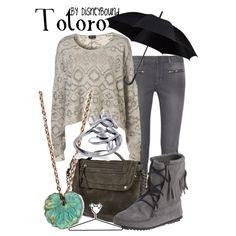 Totoro by leslieakay on Polyvore featuring dVb Victoria Beckham, Minnetonka, Olsenboye, Disney and disney