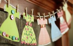 Very cute paper dress garland. I can use the dresses for my cards.!