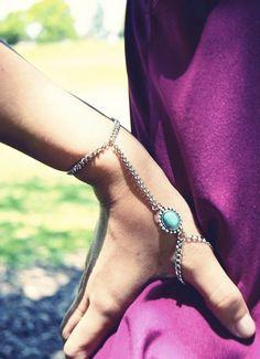 Turquoise Thumb Slave Bracelet by francisfrank slave bracelets