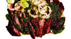 Protein Packed: Cuban Steak by Chef Robert Irvine High Protein Recipes, Healthy Dinner Recipes, Healthy Snacks, Healthy Eating, Healthy Steak, Paleo Meals, Clean Eating, Easy Meals, Easy Chicken Recipes